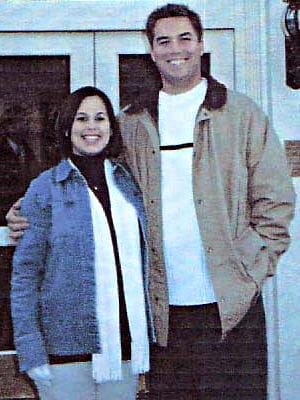 Scott and Laci Peterson in front of Lodge at Carmel. Source PWC Consulting. People's Exhibit 6.