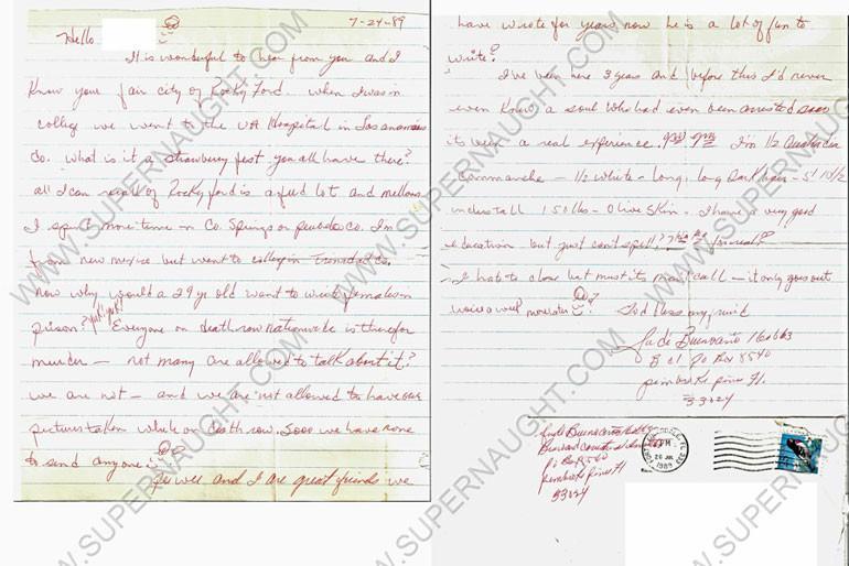 July 24, 1989 letter from Judi Buenoano