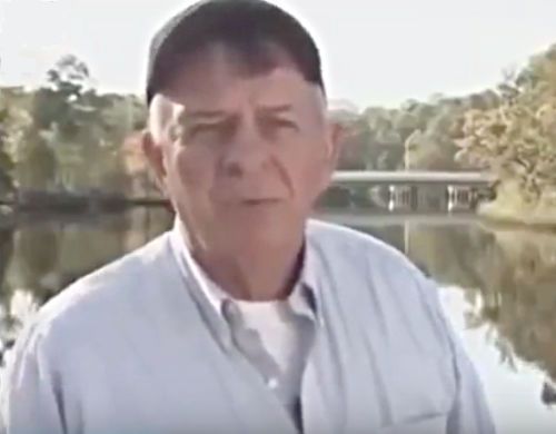 Retired Pensacola Detective Ted Chamberlain at East Lake, where Michael Goodyear drowned. Source: Death Row Stories
