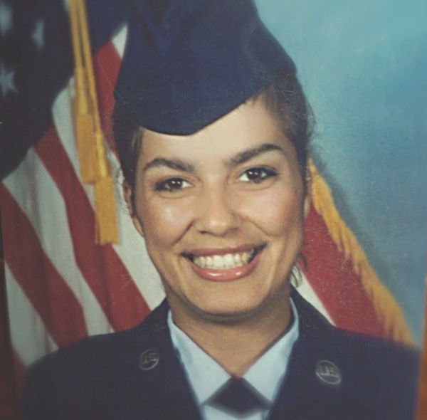 Angelina Rodriguez wearing Air Force uniform.