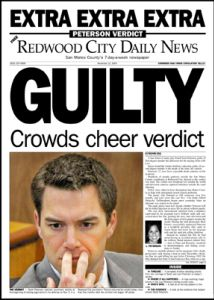 Redwood City Daily News: Guilty headline.