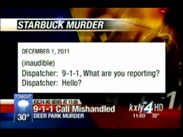 911 Call from Chanin Starbuck telephone